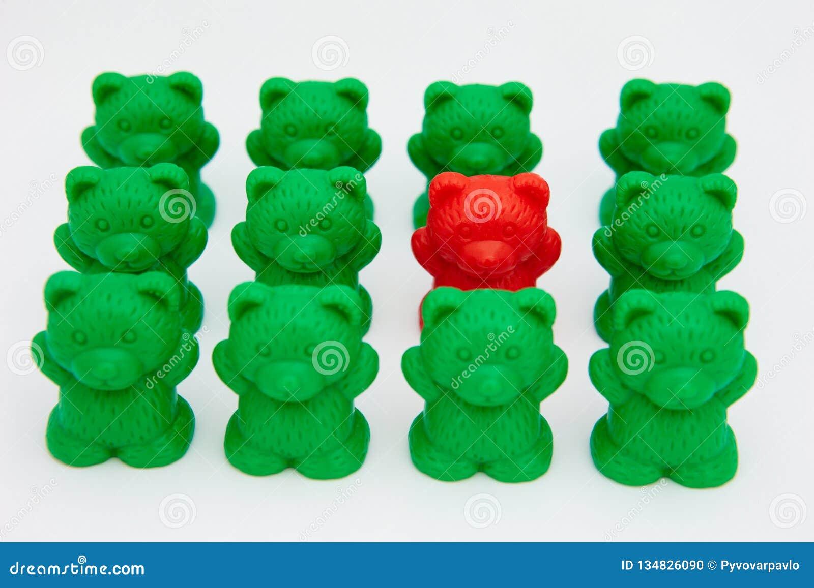 Osos plásticos del juguete