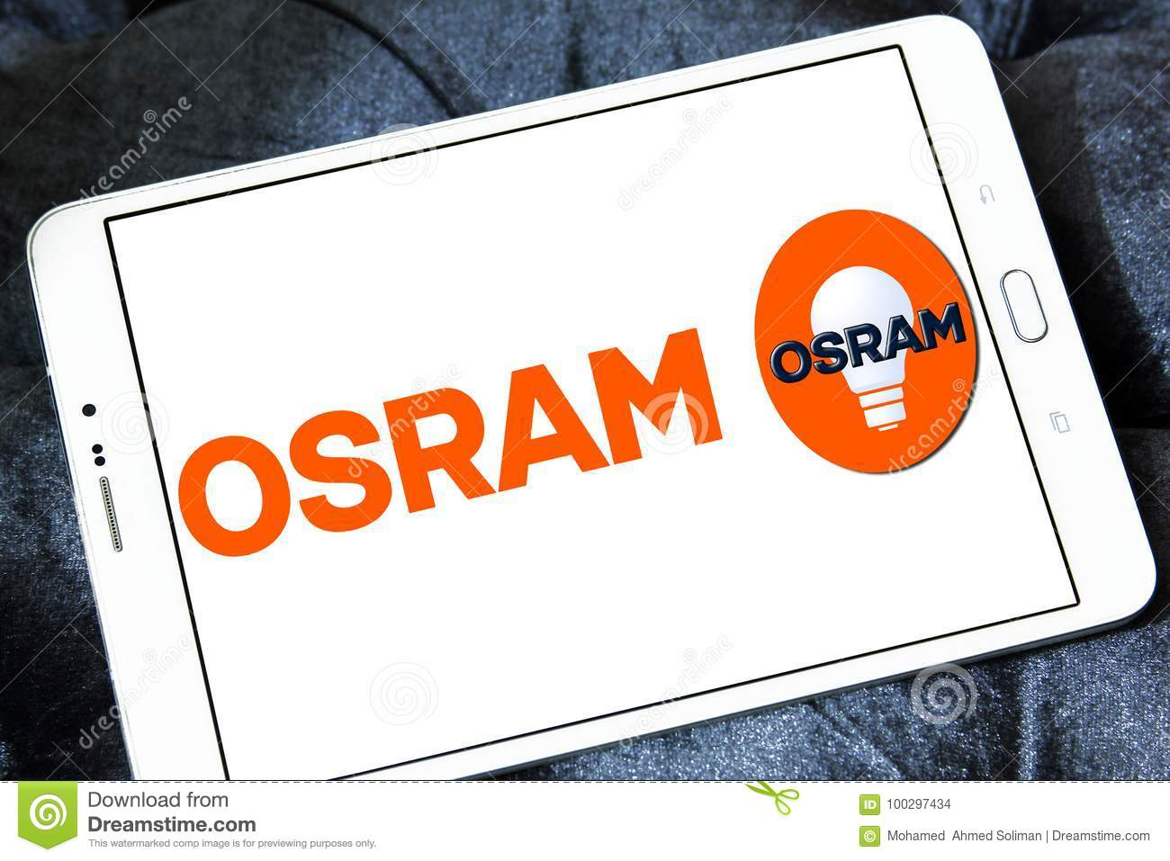 osram lighting company logo editorial stock image image of light