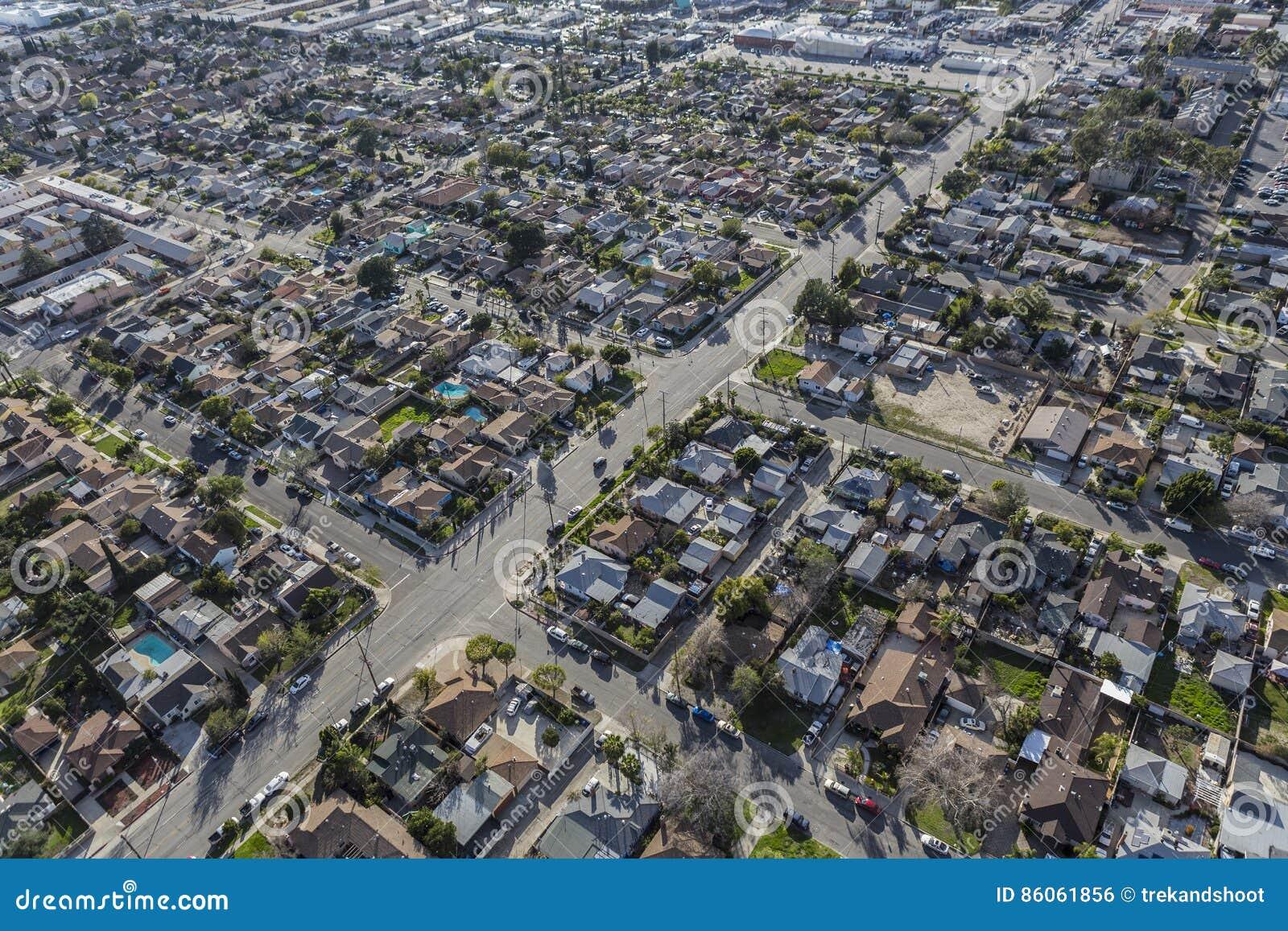 Ost San Fernando Valley Aerial Stockfoto   Bild von ansicht ...