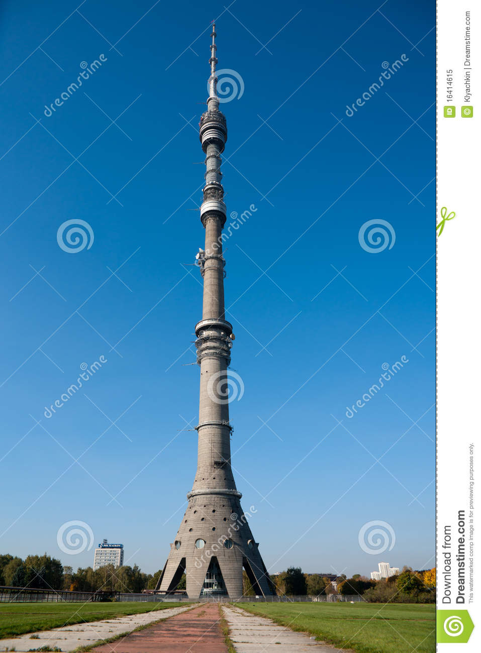Broadcast Tower Vector Ostankino Television T...