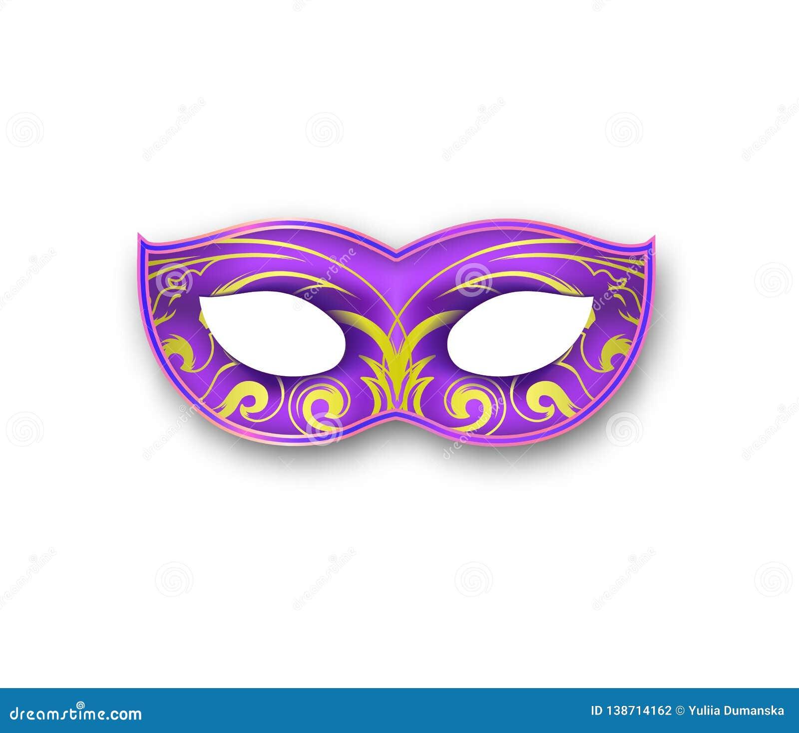 Ostatki maski menchie barwią z dekoracyjnym kwiecistym elementem Autentyczna Wenecka malująca Karnawałowa twarzy maska maskarada