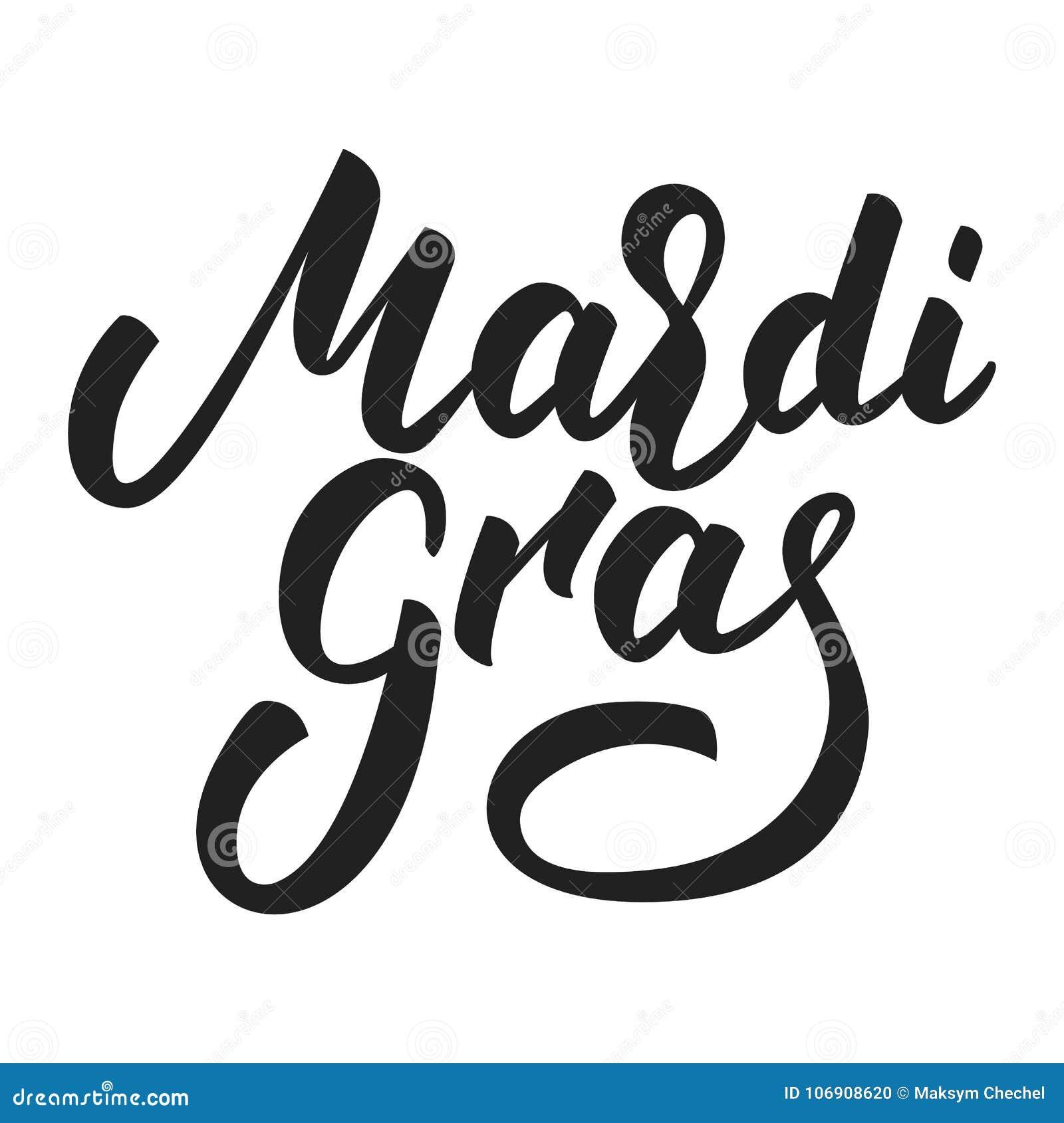 Ostatki Nowy Orlean Wtorek Gruba typografia