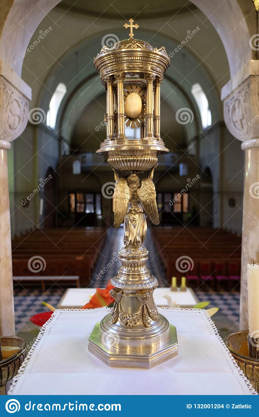 Ostensoir, église de saint Blaise à Zagreb
