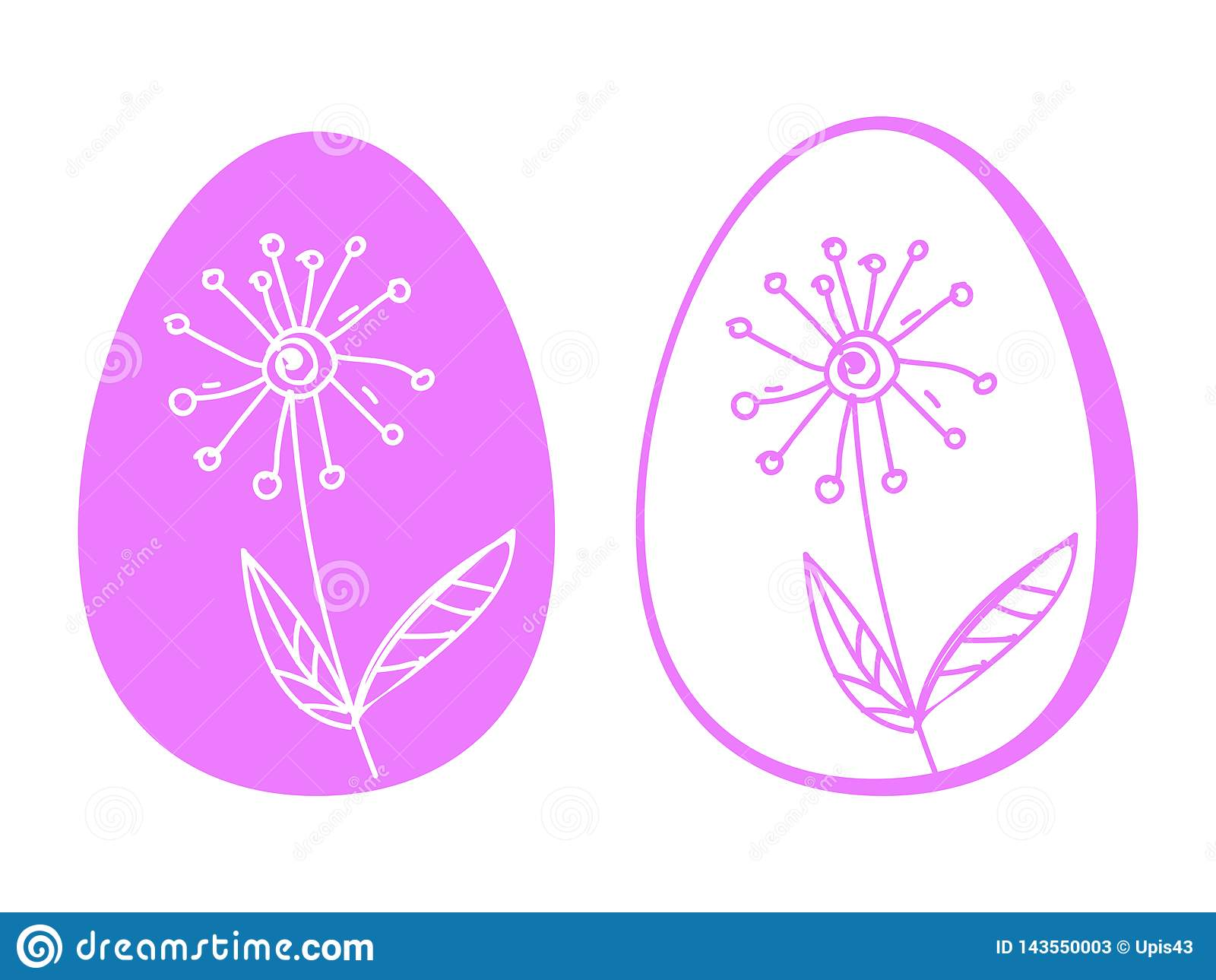 Ostereiblumen übergeben Zeichnung, soziale Netzwerke Gerade ein geregnet