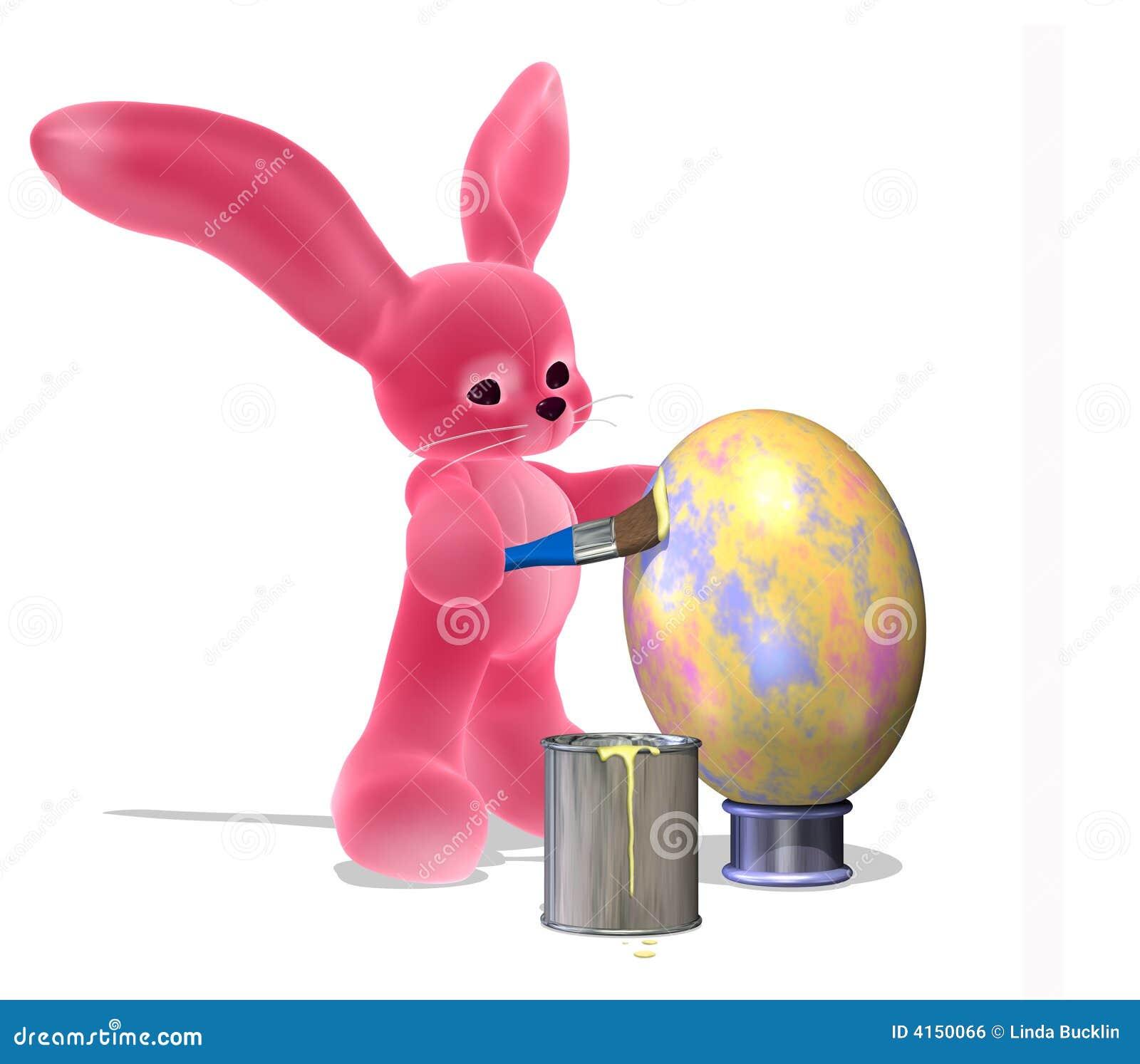 osterhase der ein ei malt stock abbildung illustration