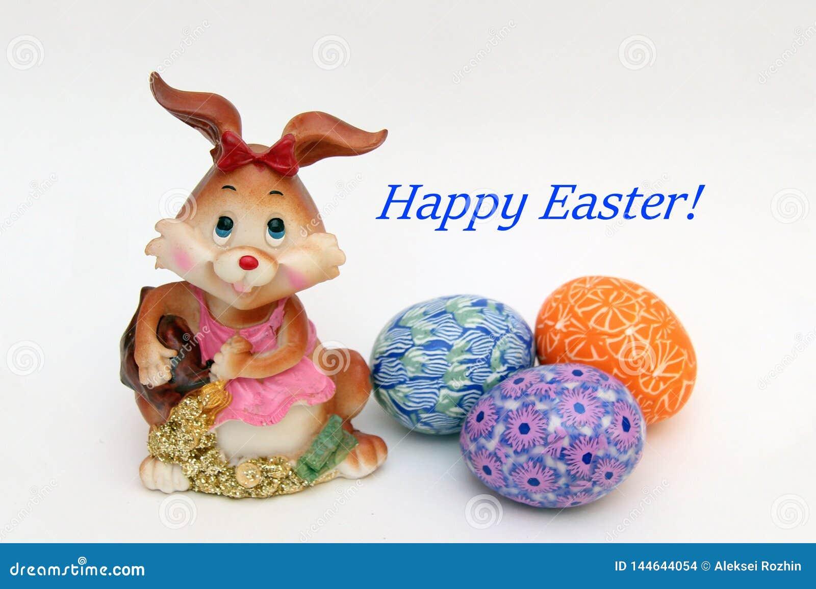 Osterhase und gemalte Eier - Ostern-Symbol