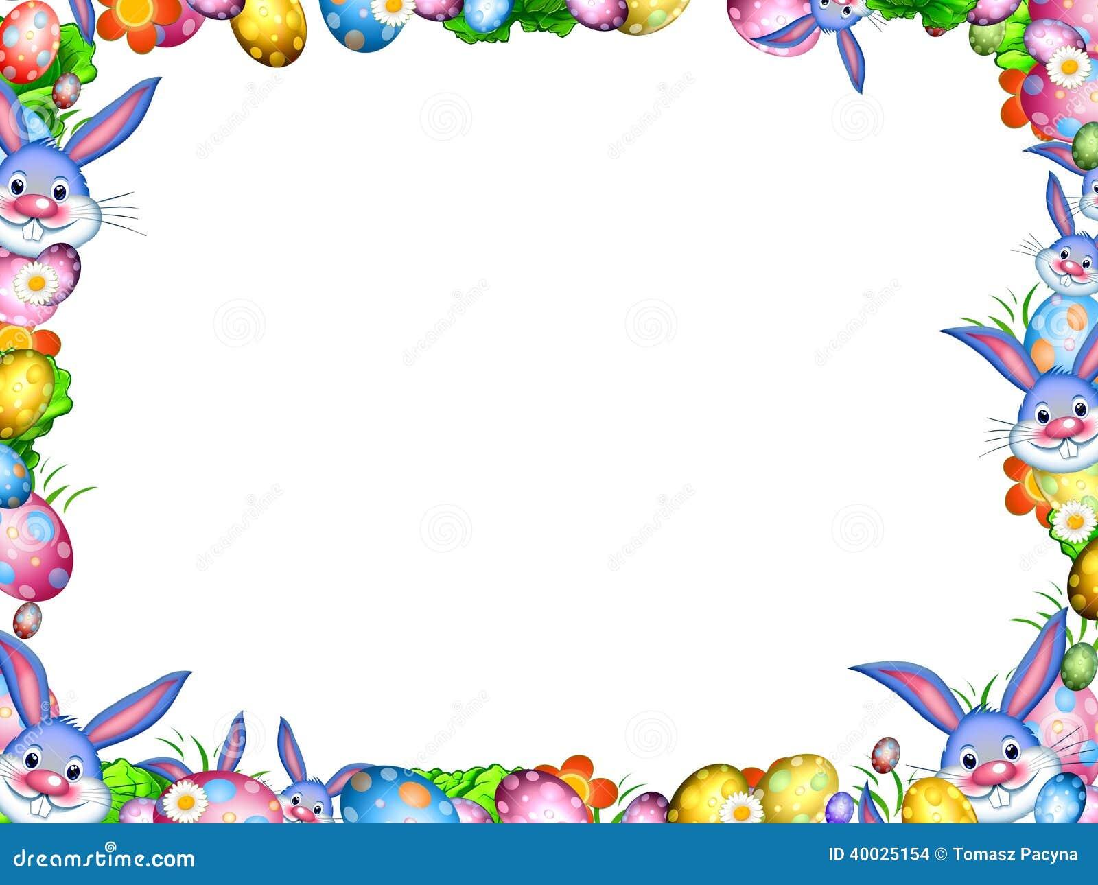 osterhasen mit bunten eiern und blumen fassen rahmen ein stock abbildung illustration von spa. Black Bedroom Furniture Sets. Home Design Ideas