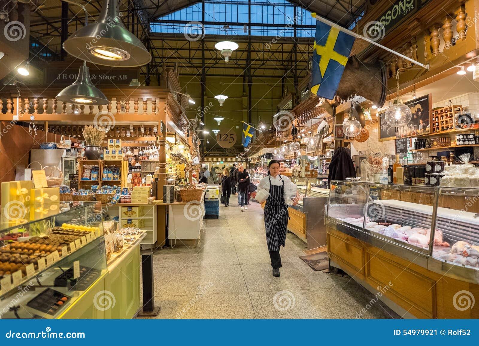 Ostermalm saluhall i Stockholm