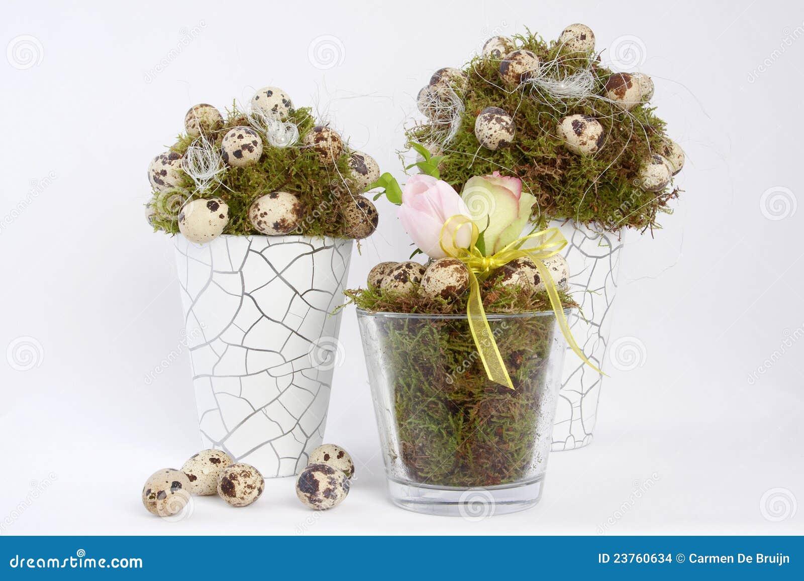 Ostern dekoration mit wachteleiern stockfoto bild von for Dekoration ostern