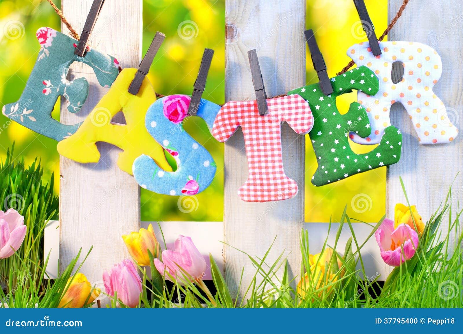 Ostern dekoration zu hause im garten stockfoto bild for Dekoration zu ostern