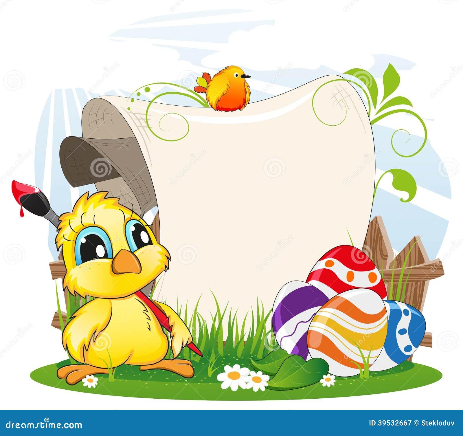 Ostern Einladung Vektor Abbildung Bild Von Vogel Tzchen 39532667