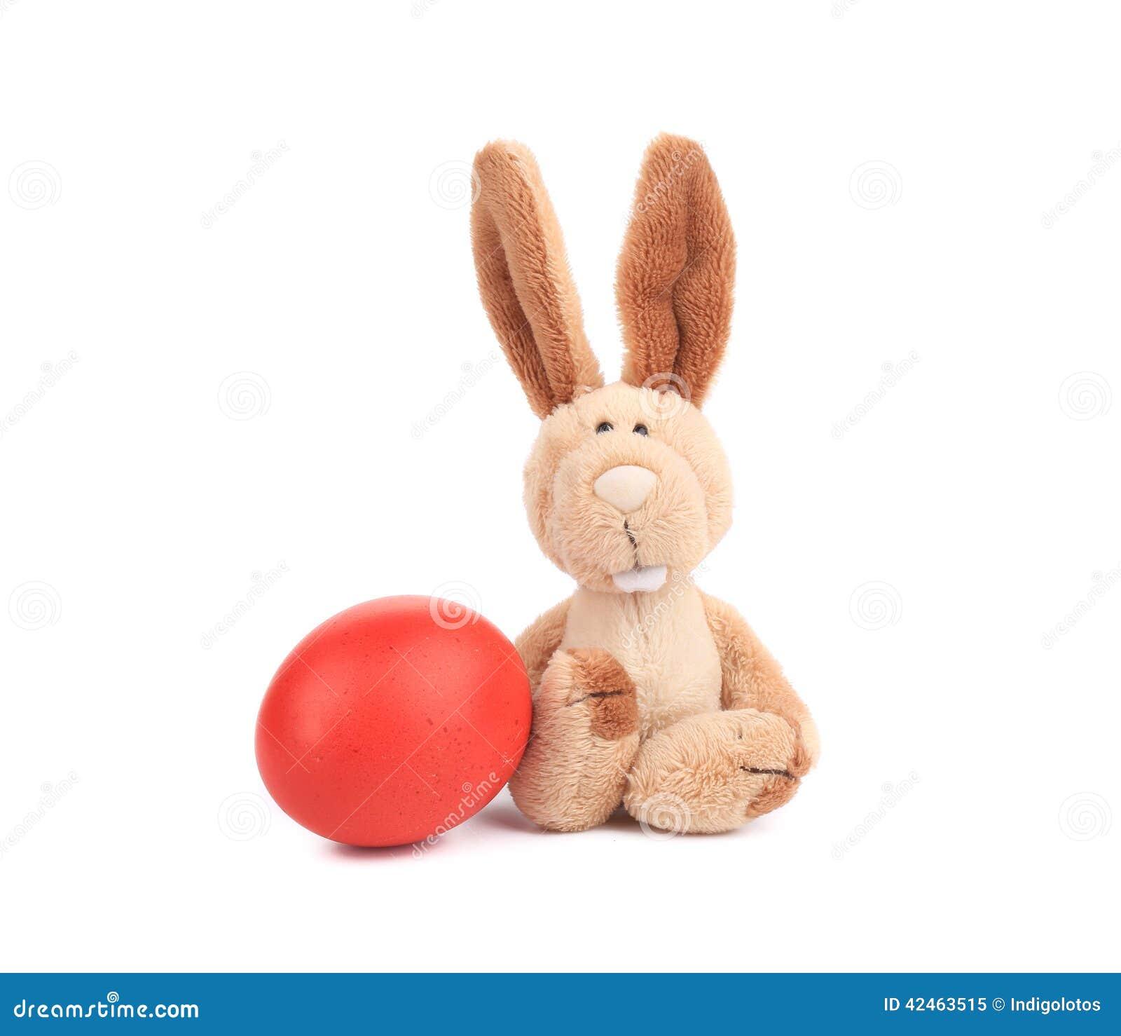 Ostern-Kaninchen und buntes Ei