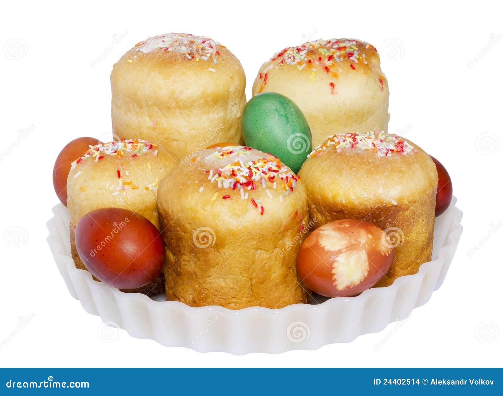 Ostern kuchen und gemalte eier stockfoto bild 24402514 for Kuchen glasplatte