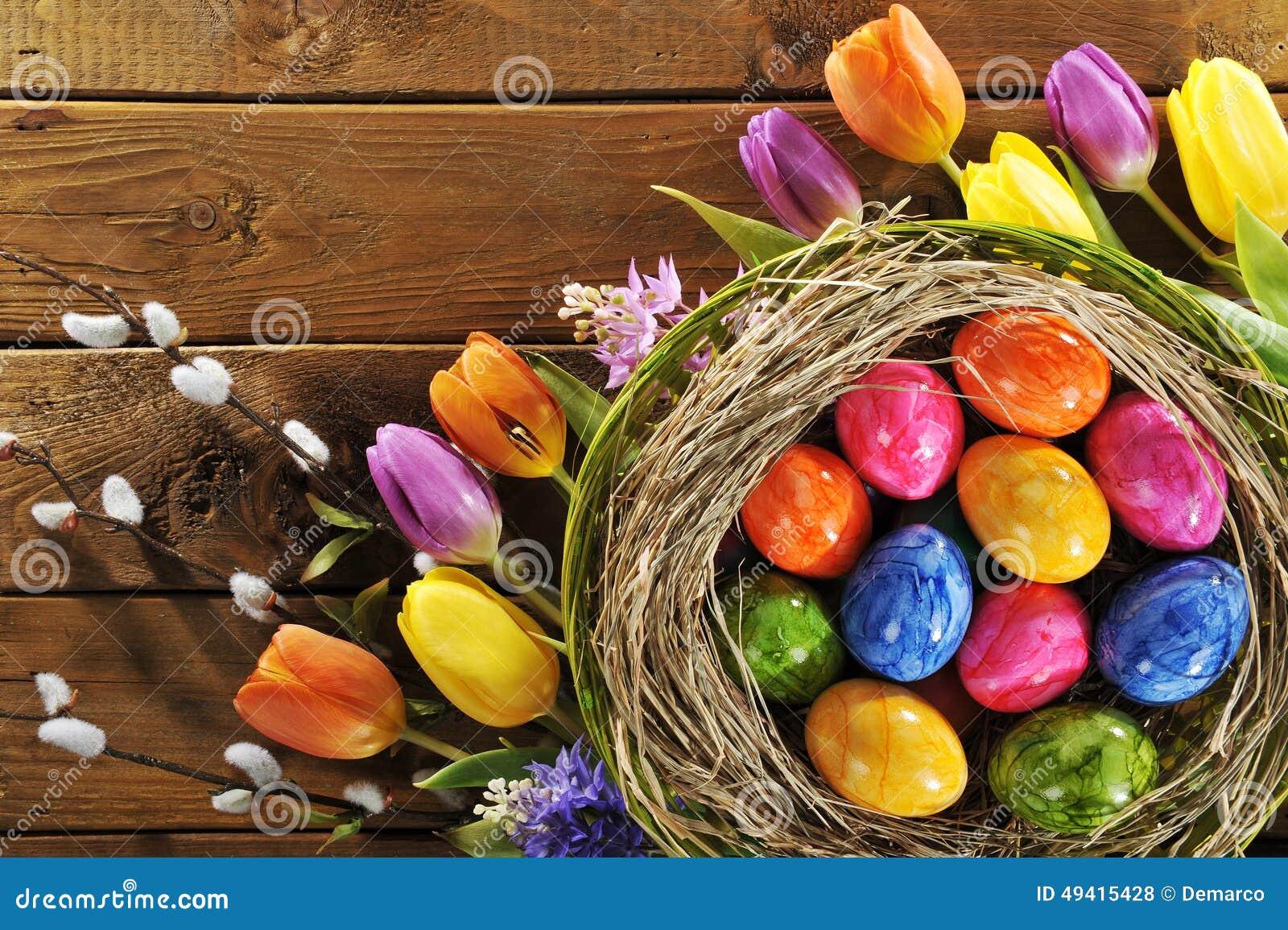 Download Ostern-Nest stockfoto. Bild von traditionell, auferstehung - 49415428