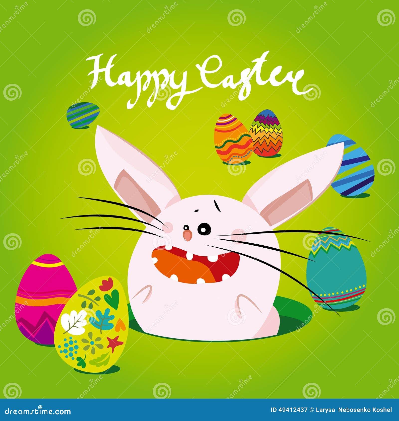Download Ostern, rosa Häschen vektor abbildung. Illustration von süß - 49412437