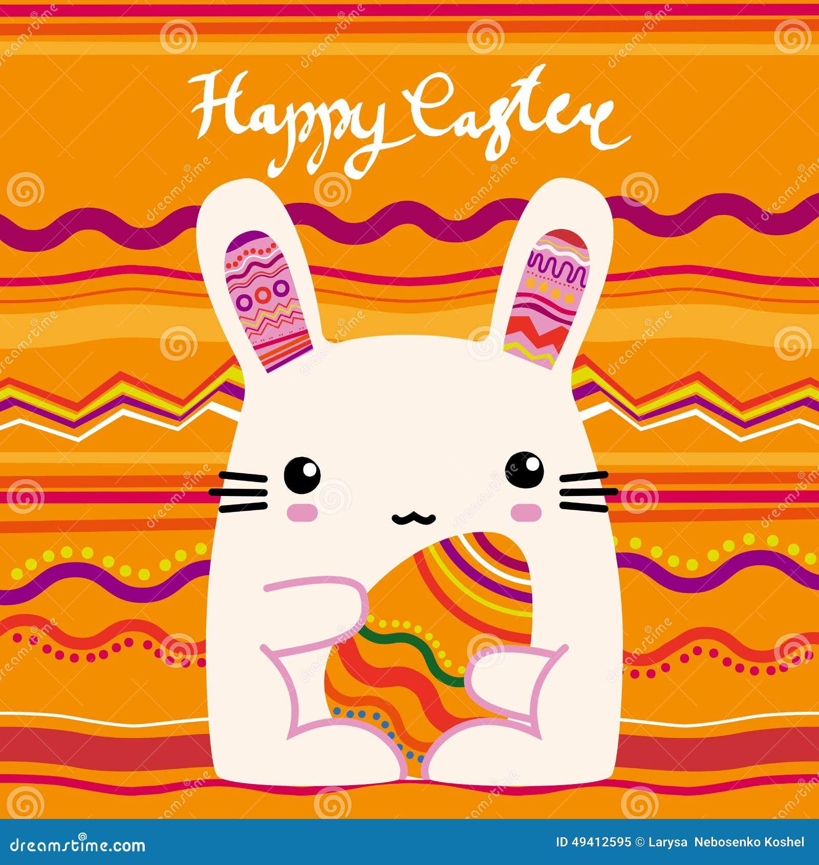Download Ostern, rosa Häschen vektor abbildung. Illustration von kaninchen - 49412595