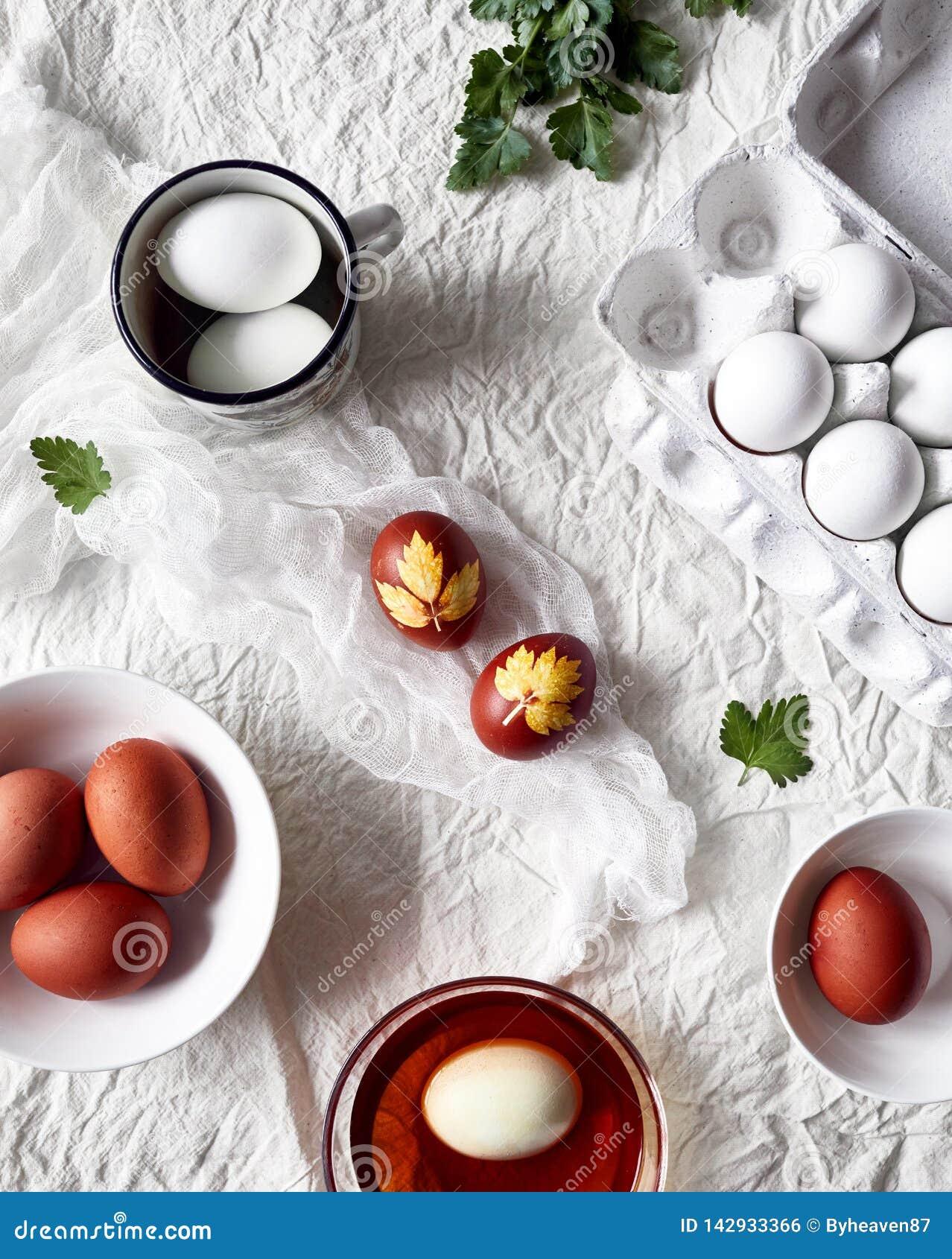 Ostern verzierte Eier