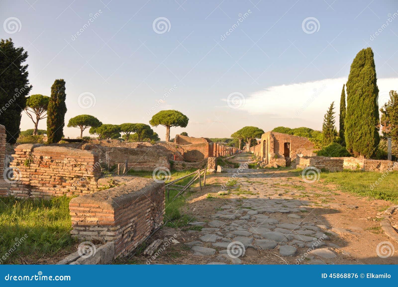 Ostia antica ancient city stock photo image 45868876 for Mr arredamenti ostia antica