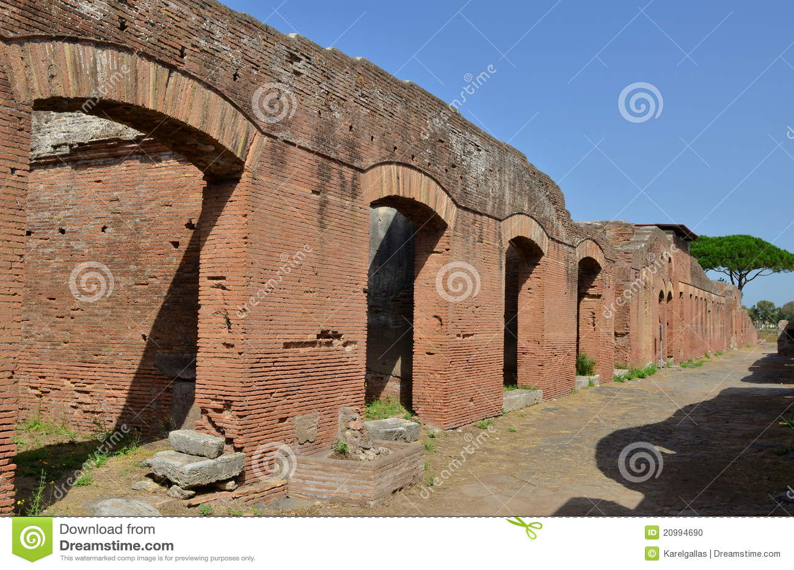 Ostia antica near rome in italy stock photo image 20994690 for Mr arredamenti ostia antica