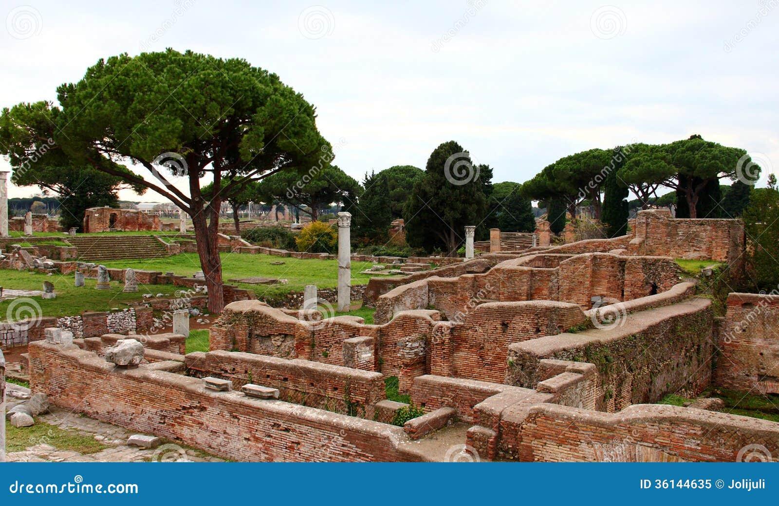 Ostia antica ruins royalty free stock photo image 36144635 for Mr arredamenti ostia antica