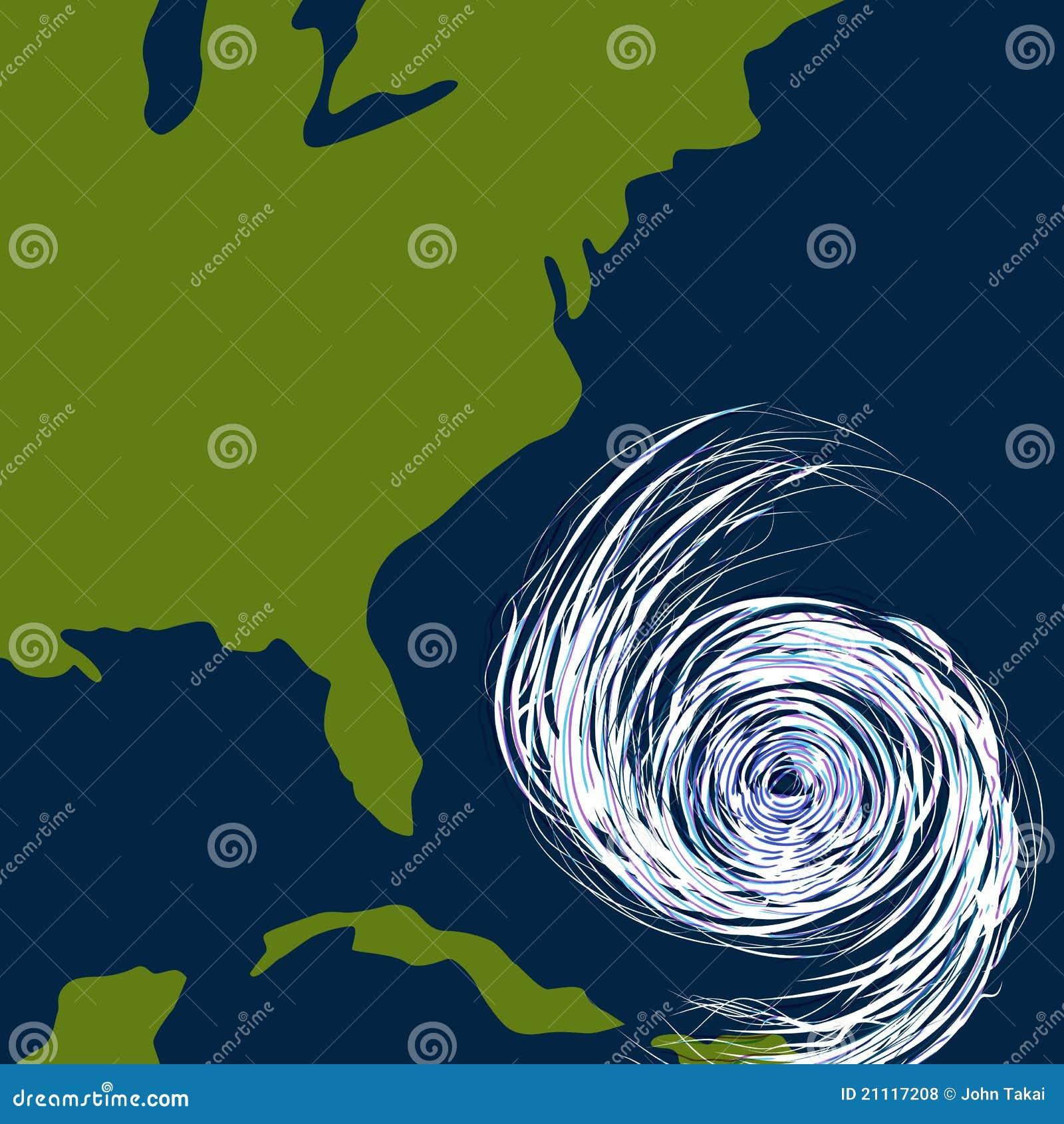 Ostküste-Hurrikan-Zeichnung