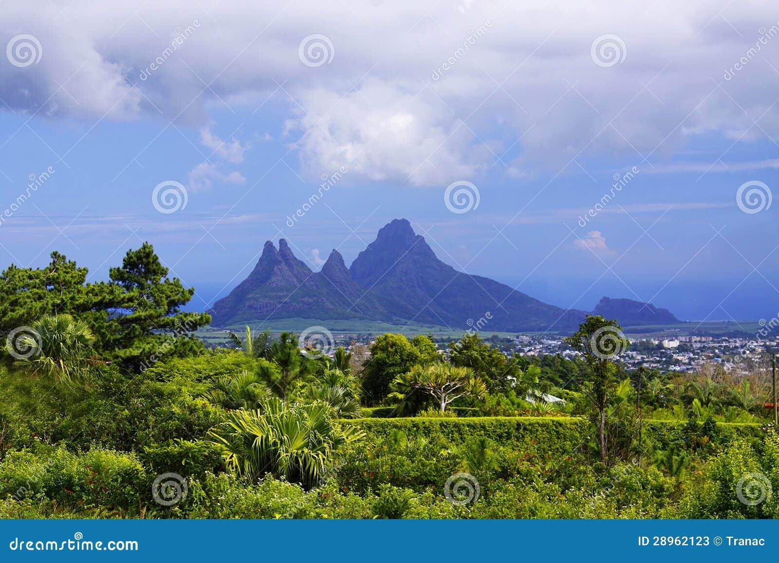 Ostre góry przy Mauritius