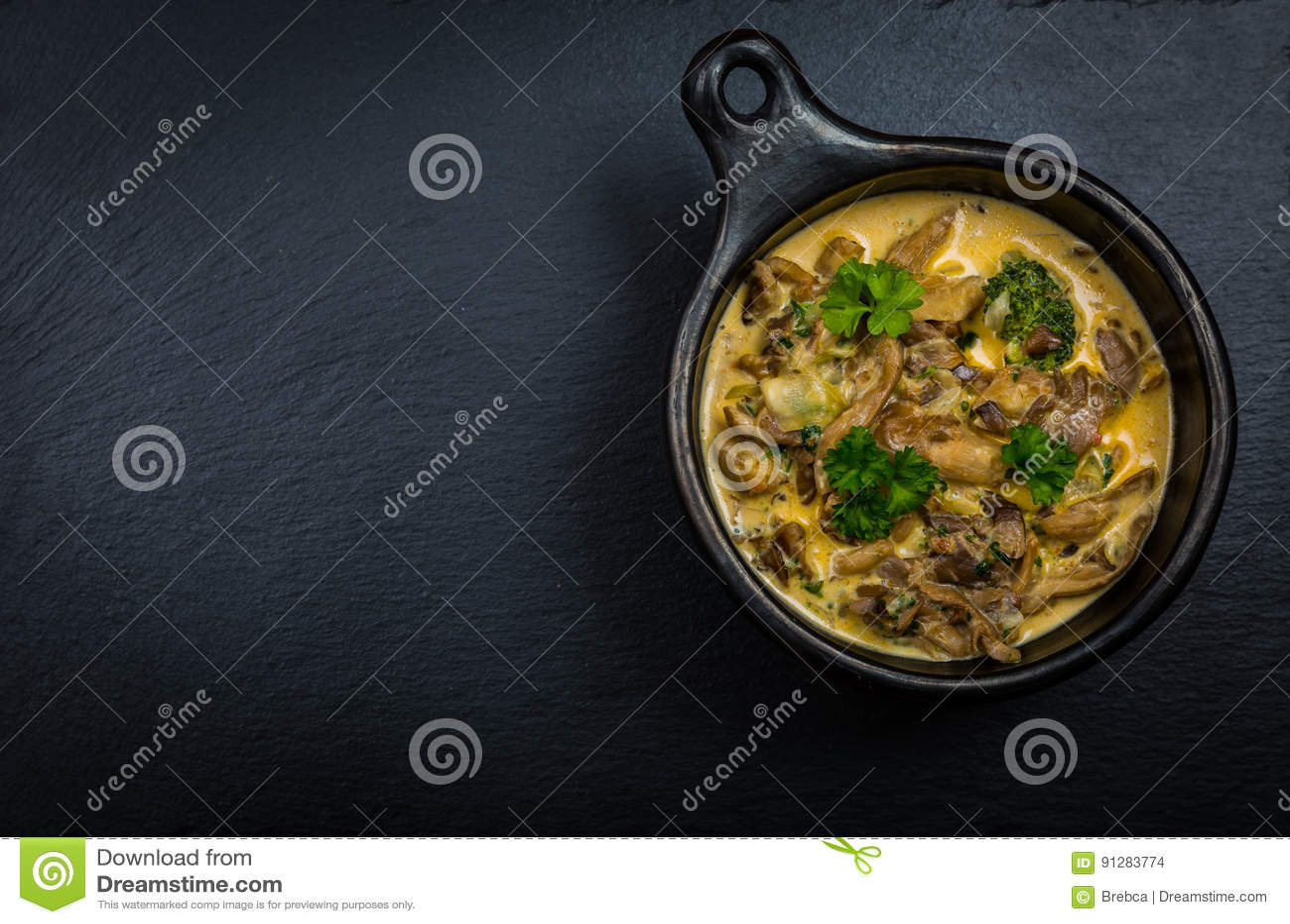 Ostronchampinjonsoppa med grönsaker