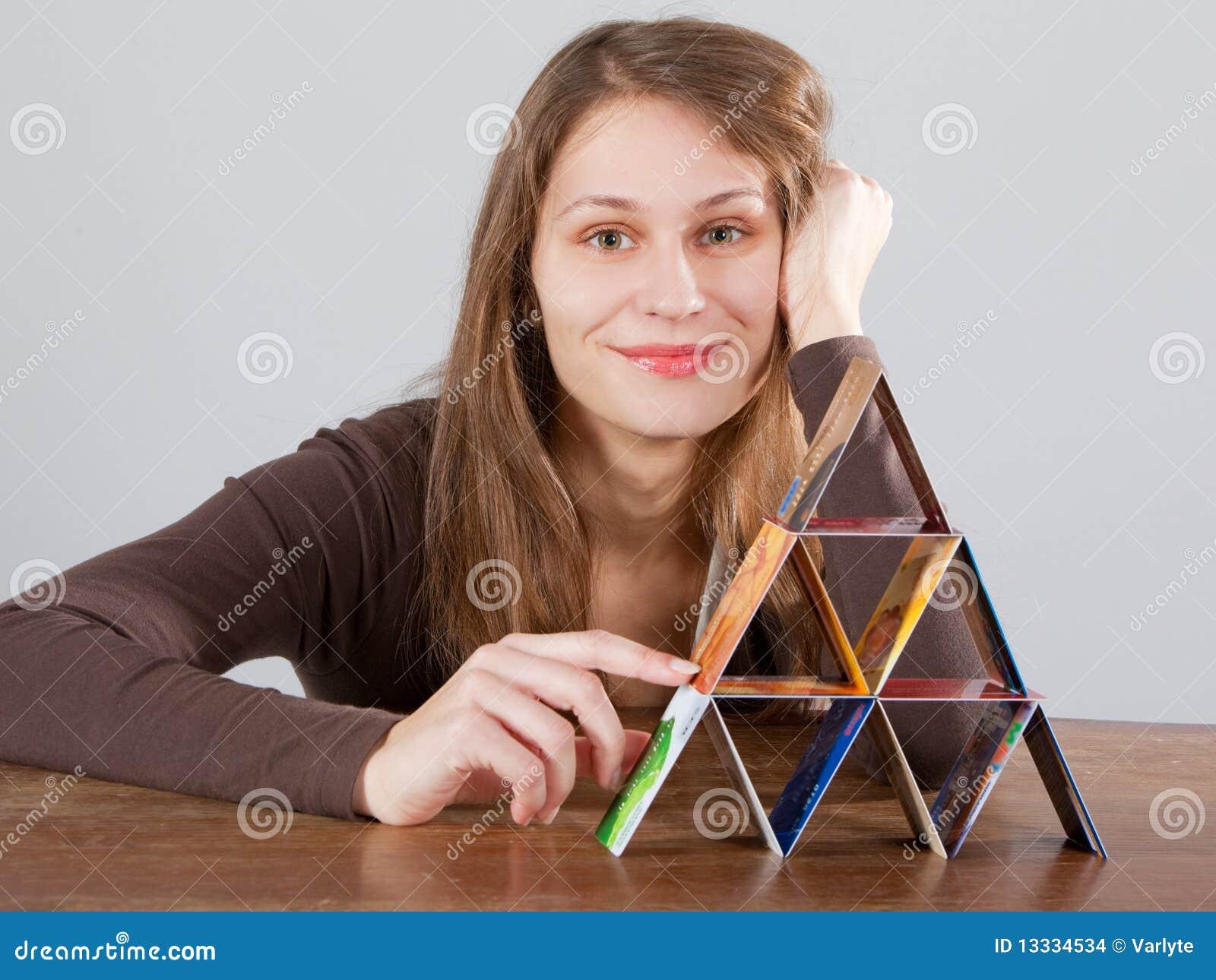 Ostrosłup karciana kredytowa kobieta