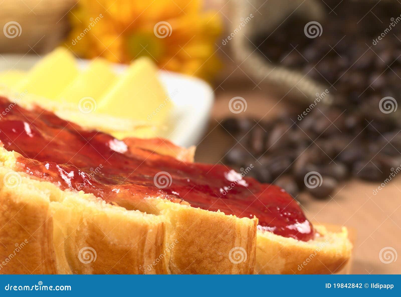 Ostruzione di fragola sul Croissant