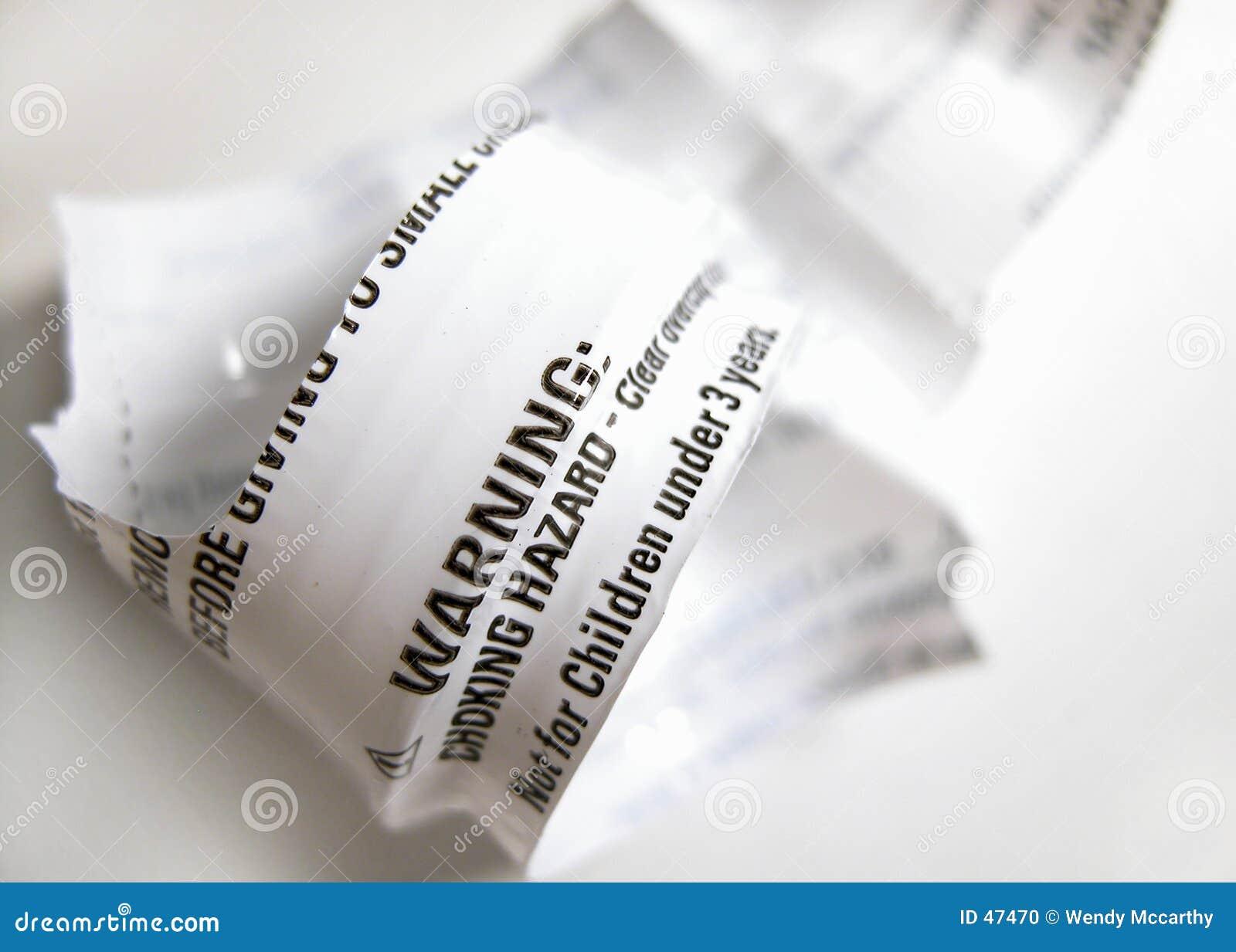 Ostrzeżenie etykiety