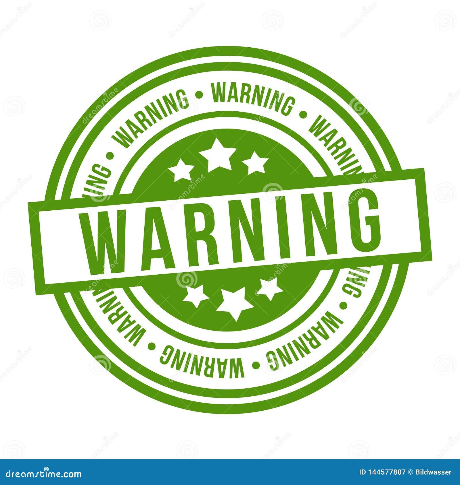 Ostrzegawczy znaczek Eps10 wektoru zieleni odznaka