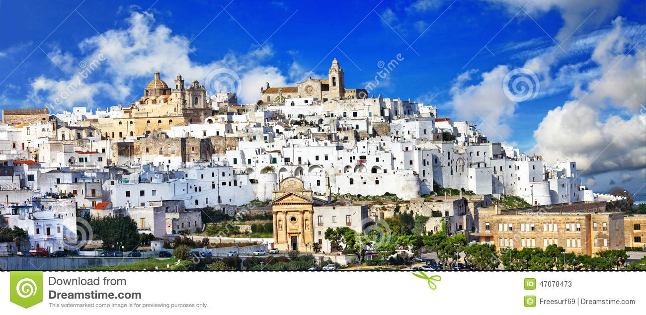 Ostuni beautiful white town in Puglia, Italy