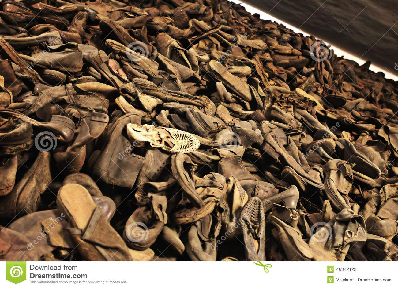 Oswiecim, het gebied van Polen Auschwitz - Schoes