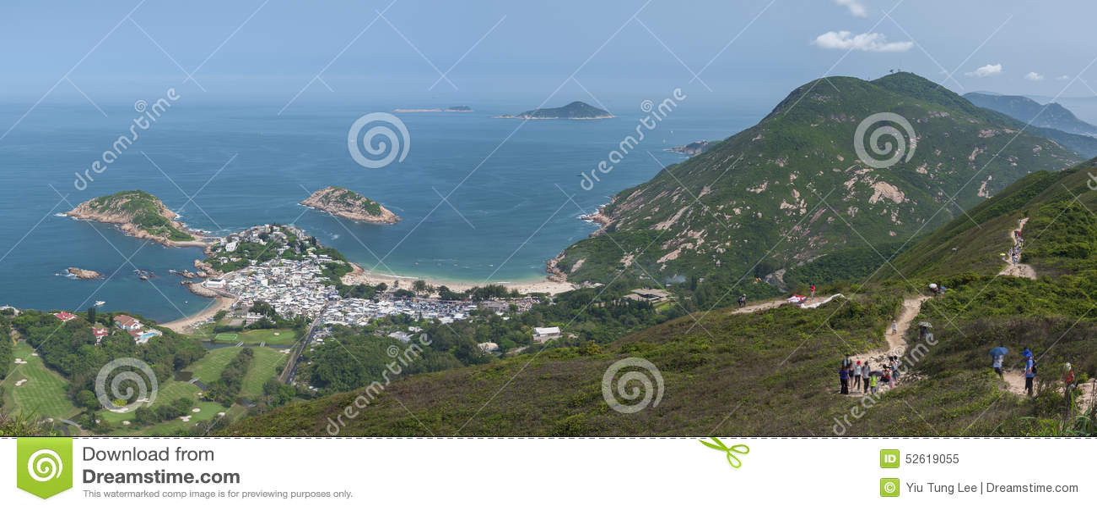 Oszałamiająco krajobraz Hong Kong Przeglądać od
