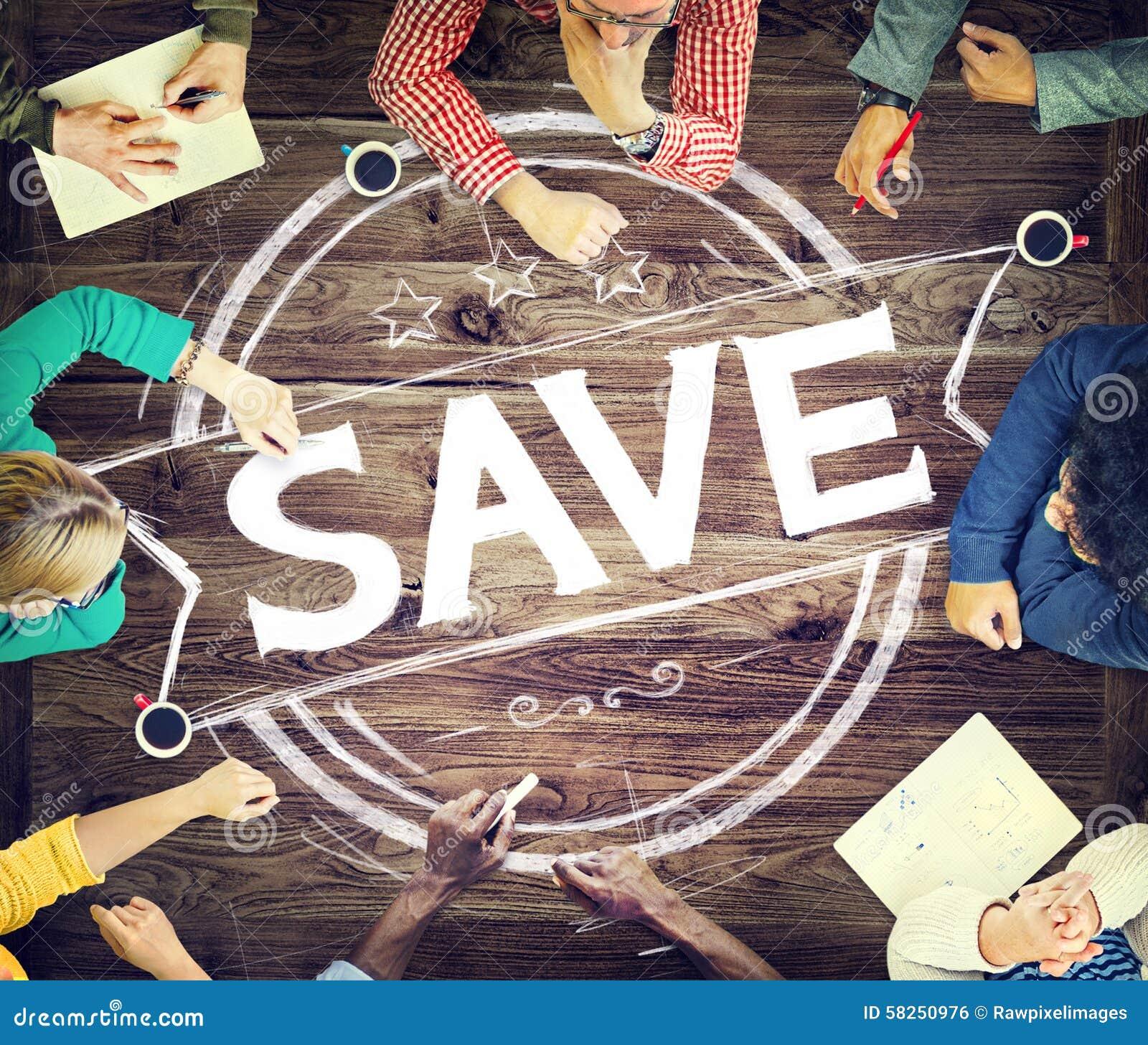 Oszczędzania konta Save finanse pieniądze funduszu pojęcie