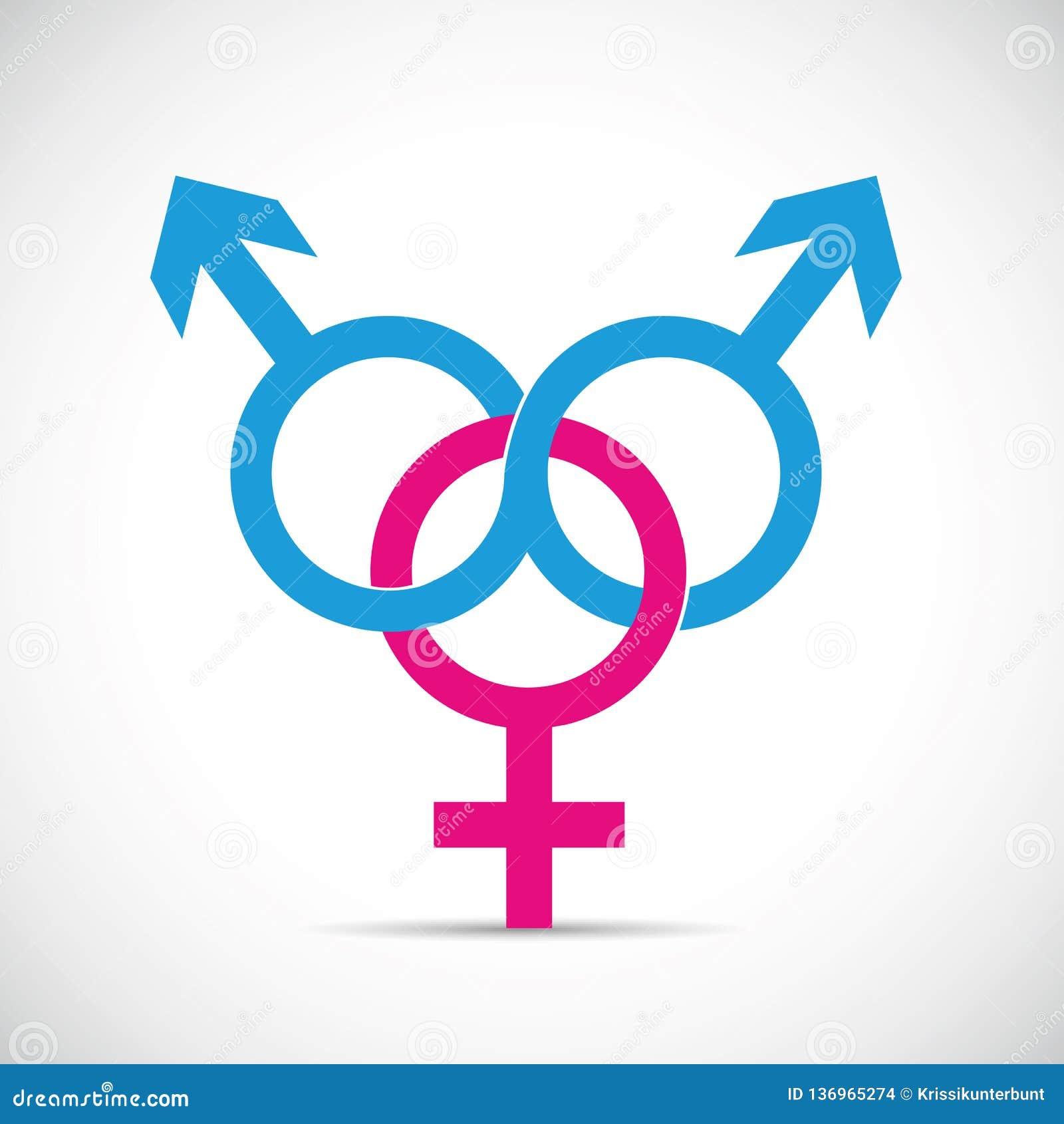 Oszukiwa partnera związek dwa i oszustwo męski i jeden żeński symbol