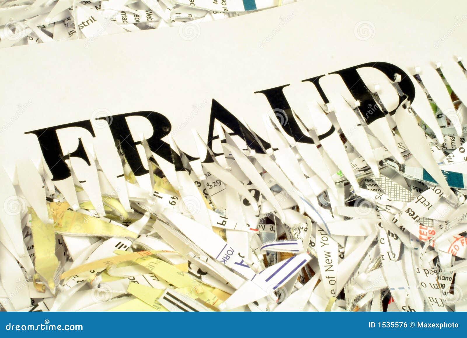 Oszustwa strzępiący dokumentu
