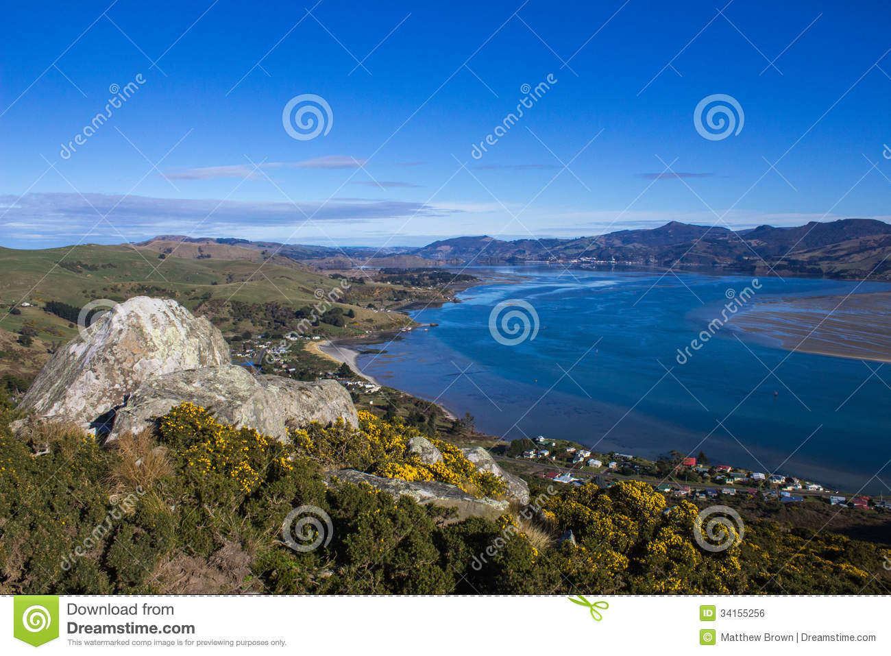 Otago Harbour In New Zealand Royalty Free Stock Image - Image ...