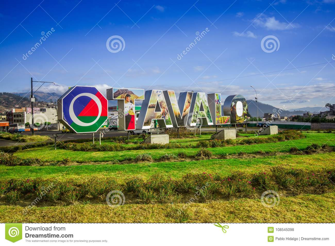 otavalo ecuador september 03 2017 view of signboard with huge