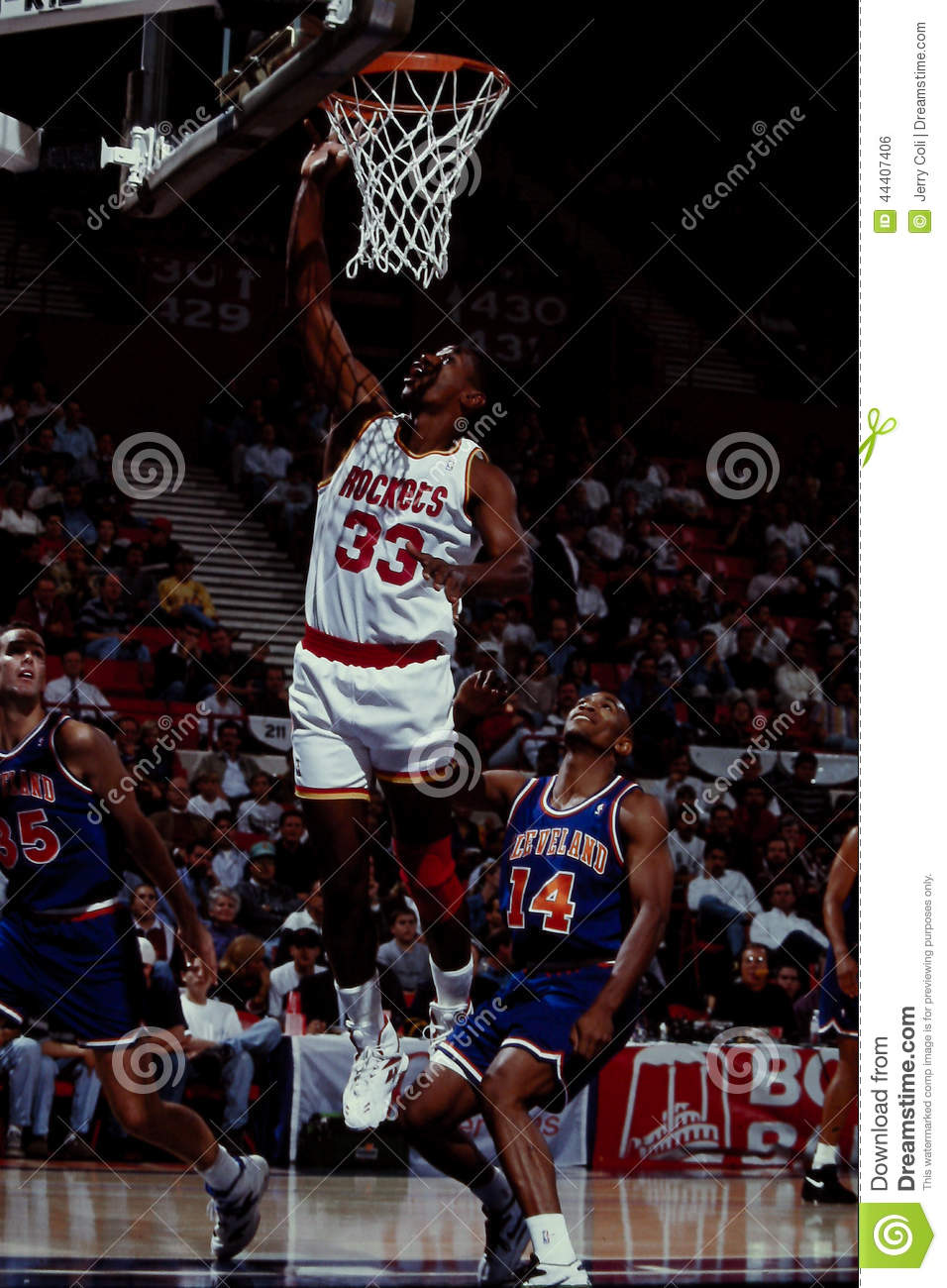 Otis Thorpe Houston Rockets Editorial Image