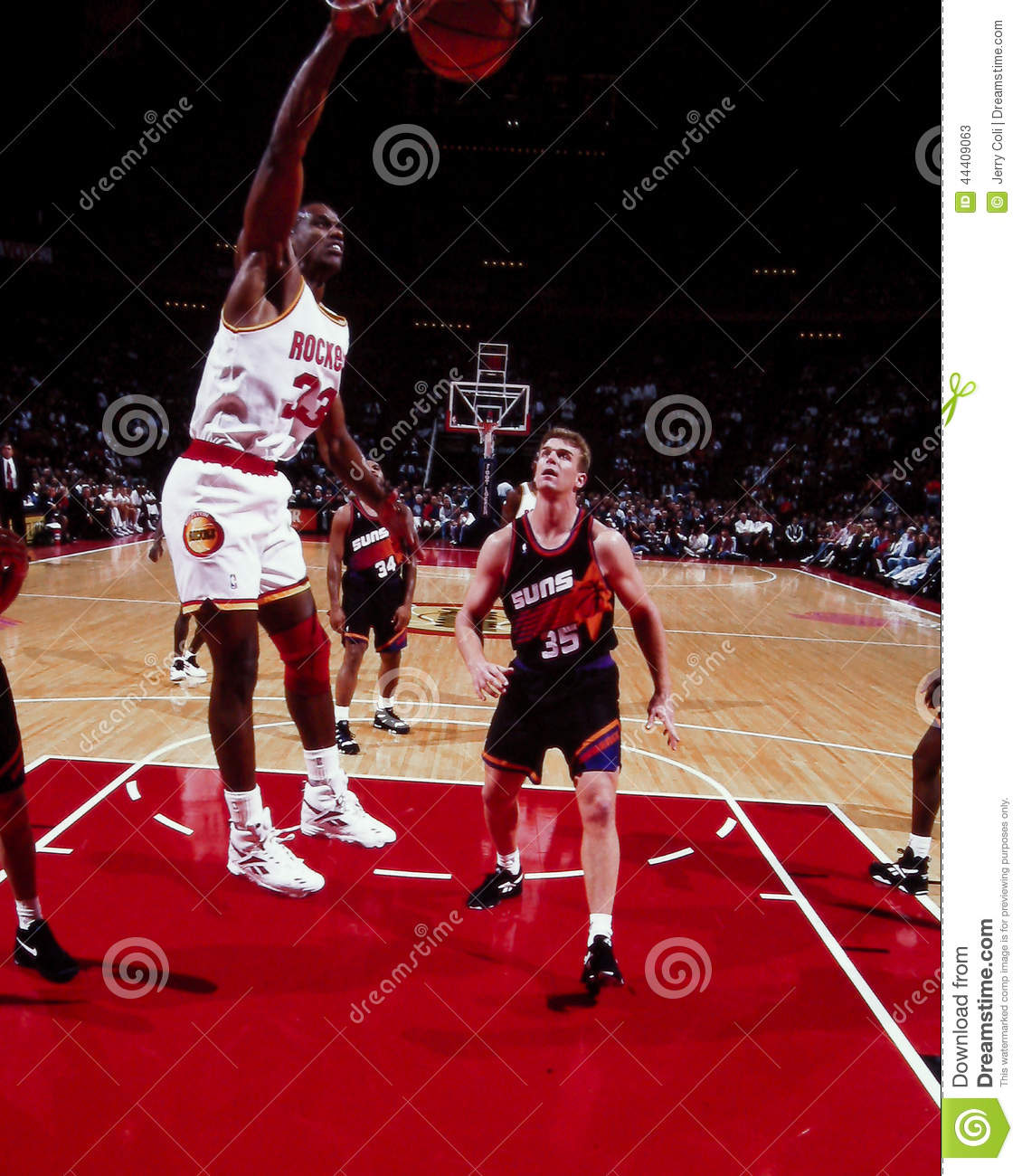 Otis Thorpe Houston Rockets Editorial Stock Image