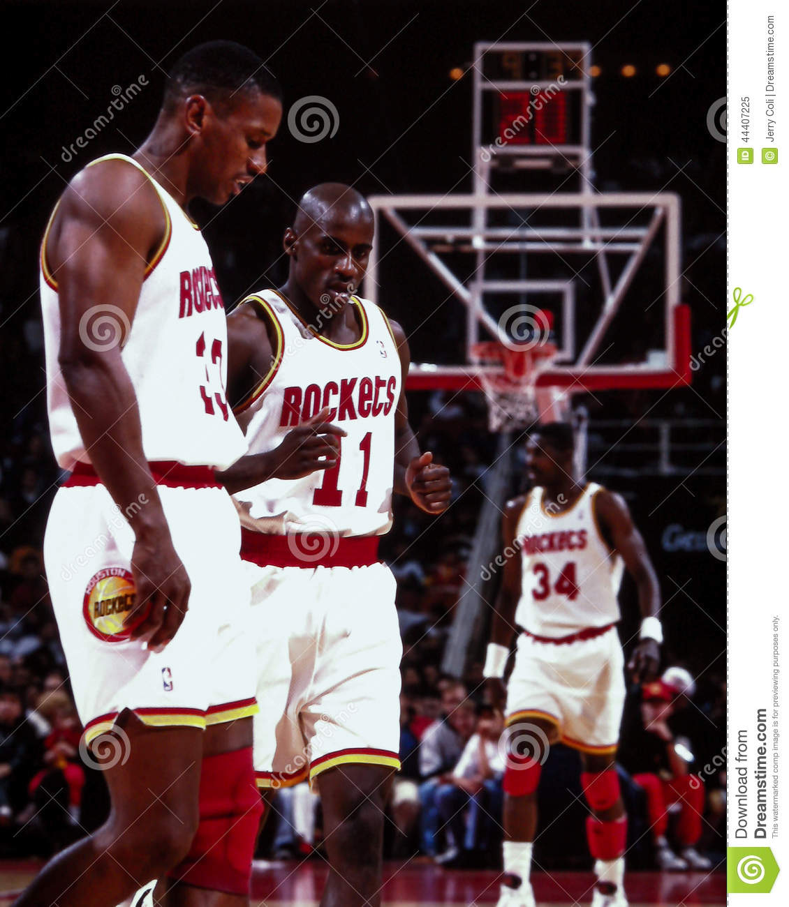 Otis Thorpe And Vernon Maxwell Houston Rockets Editorial Image