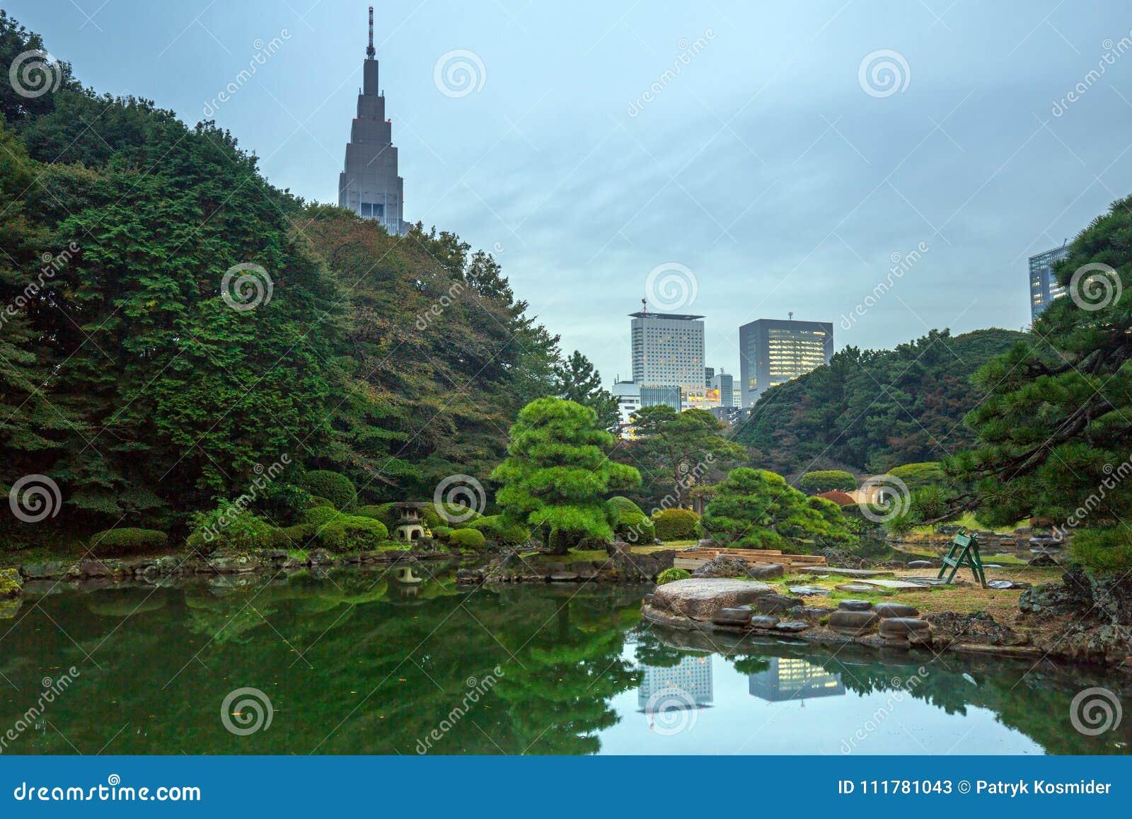 Otoño en el parque de Shinjuku, Tokio