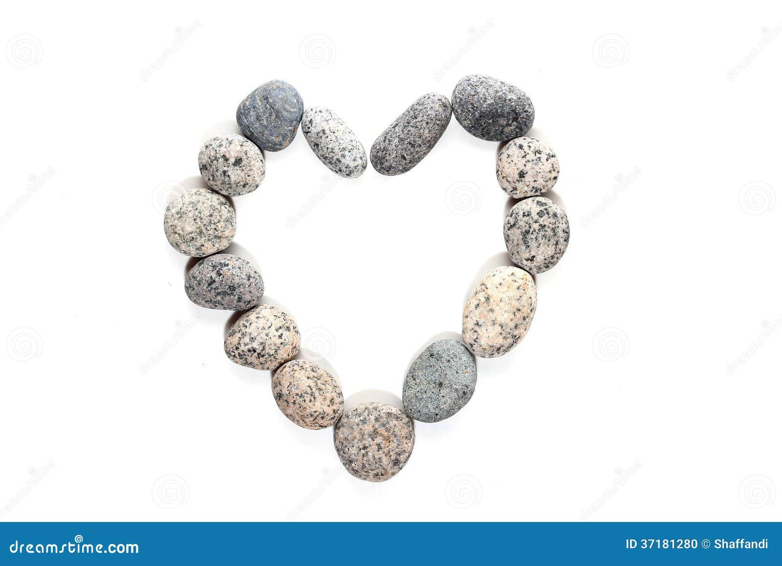 Otoczaka kamień w kierowym kształcie