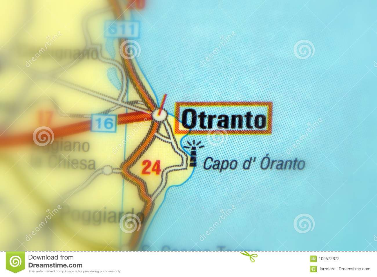 Otranto Italy Map.Otranto Italy Europe Stock Photo Image Of Land Focus 109572672