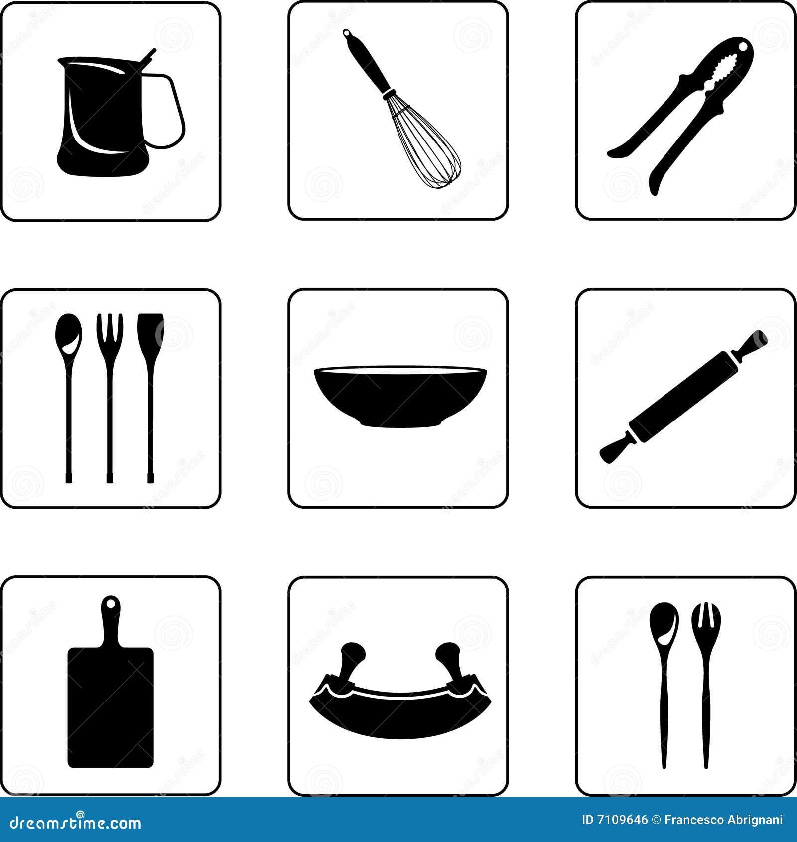 Otros utensilios de cocina imagen de archivo libre de for Utensilios medidores cocina