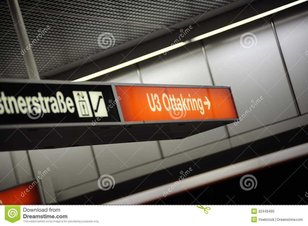 Ottakring U3 Subway Station Stock Image Image Of District