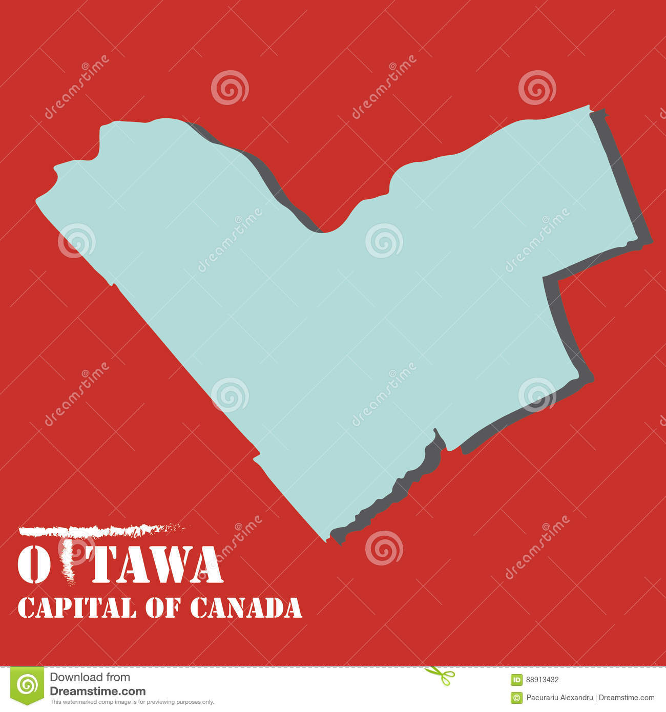 Capital Of Canada Map on