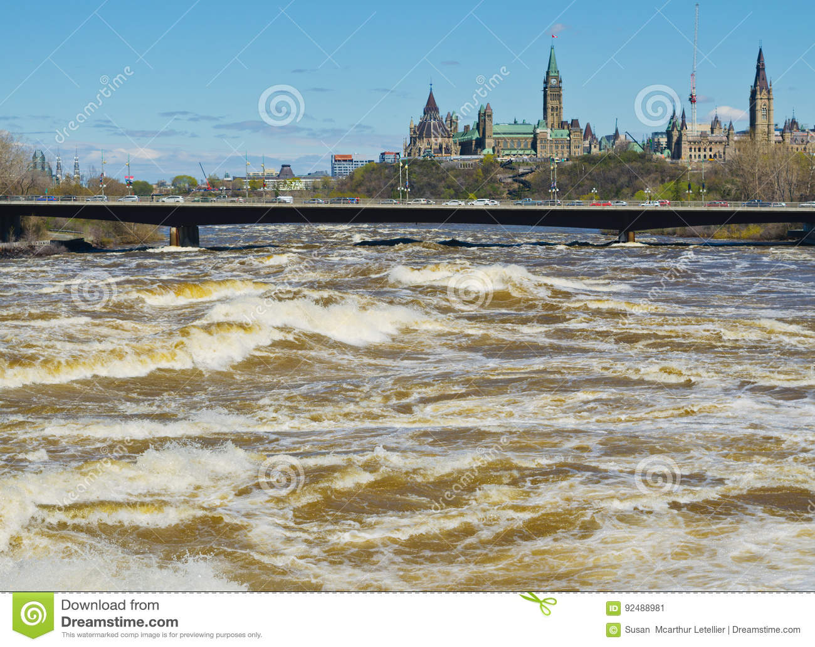 Ottawa rzeka Wzbiera powodować wylew