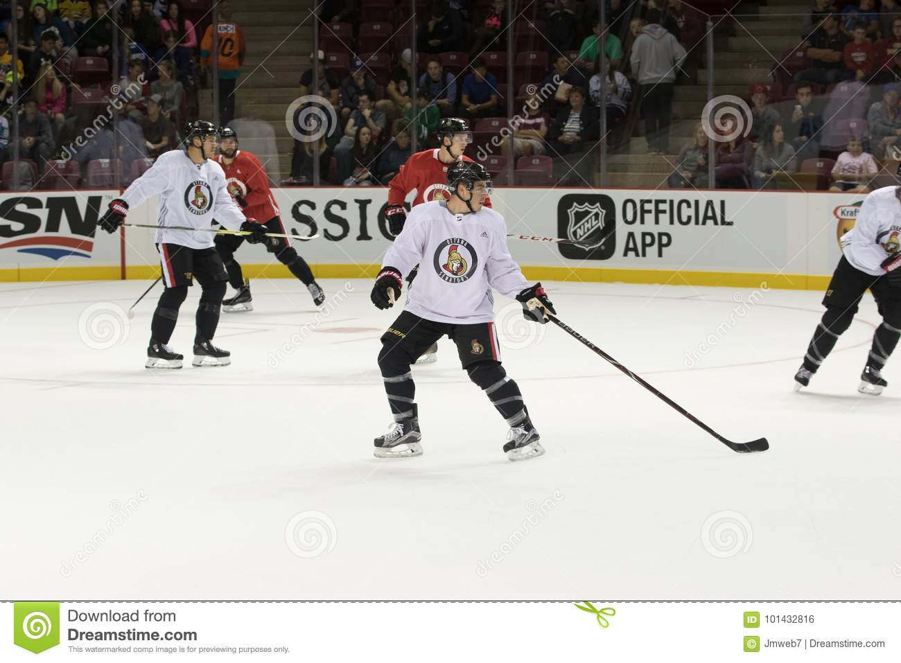 official photos e60d6 6bd2c Ottawa Senators Practice editorial photo. Image of game ...